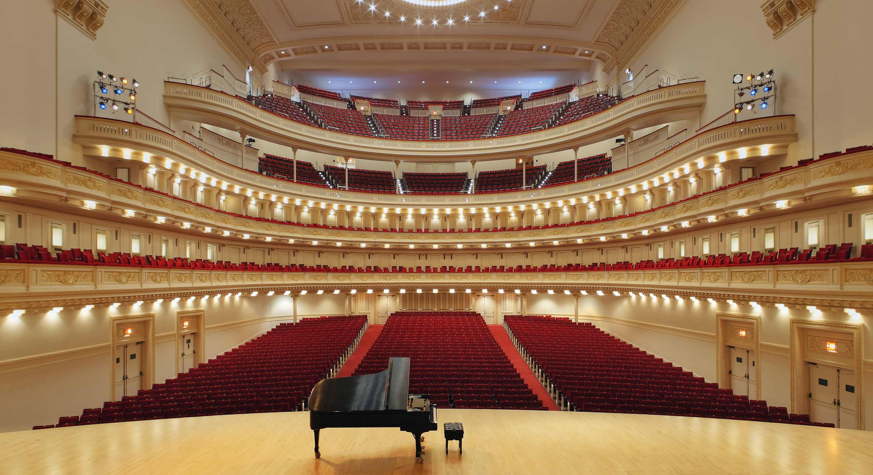 interior photo of Carnegie Hall