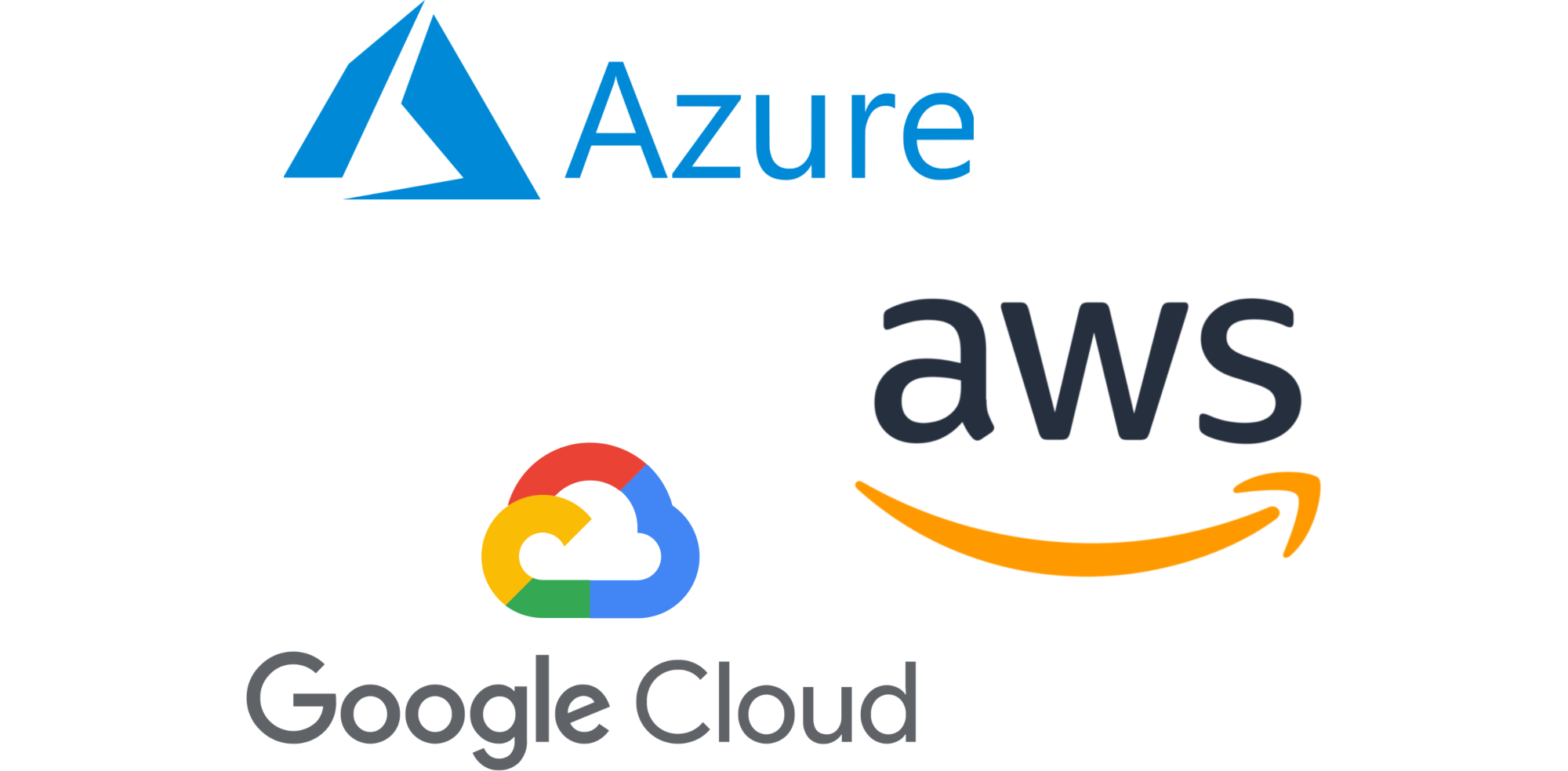 azure aws and google cloud storage logos