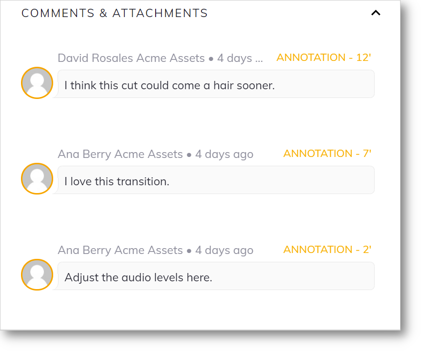 dam comment workflows