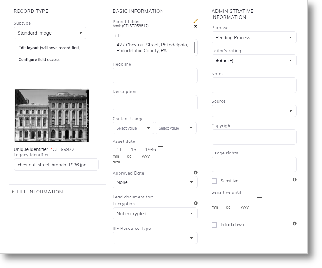 corporate archives screenshot