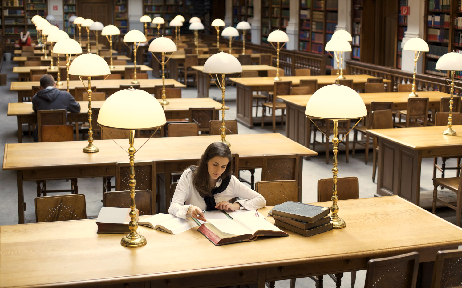 mlis student in library