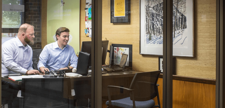 An image of Ben Grossman in his office.