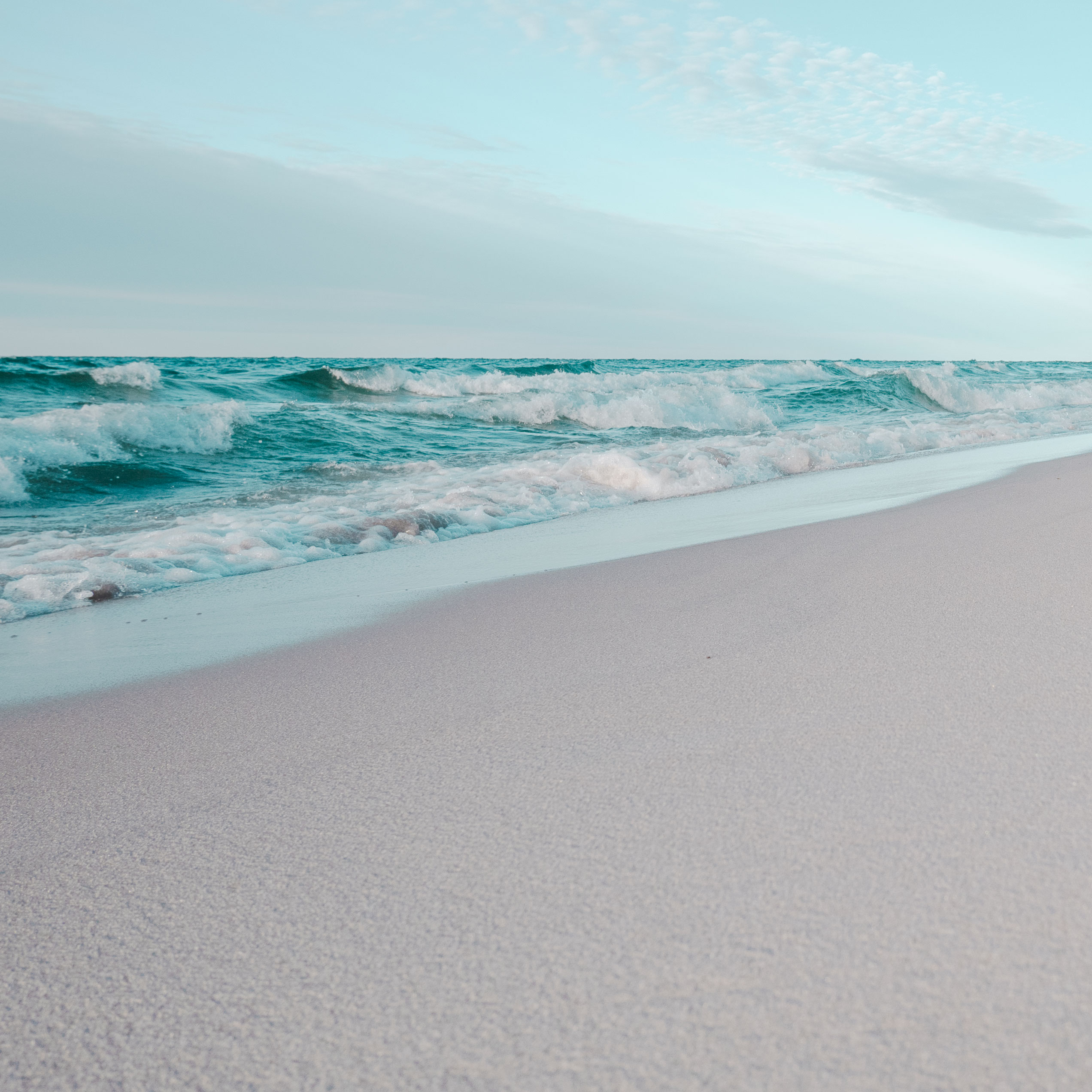 Waves crashing on a Michigan beach