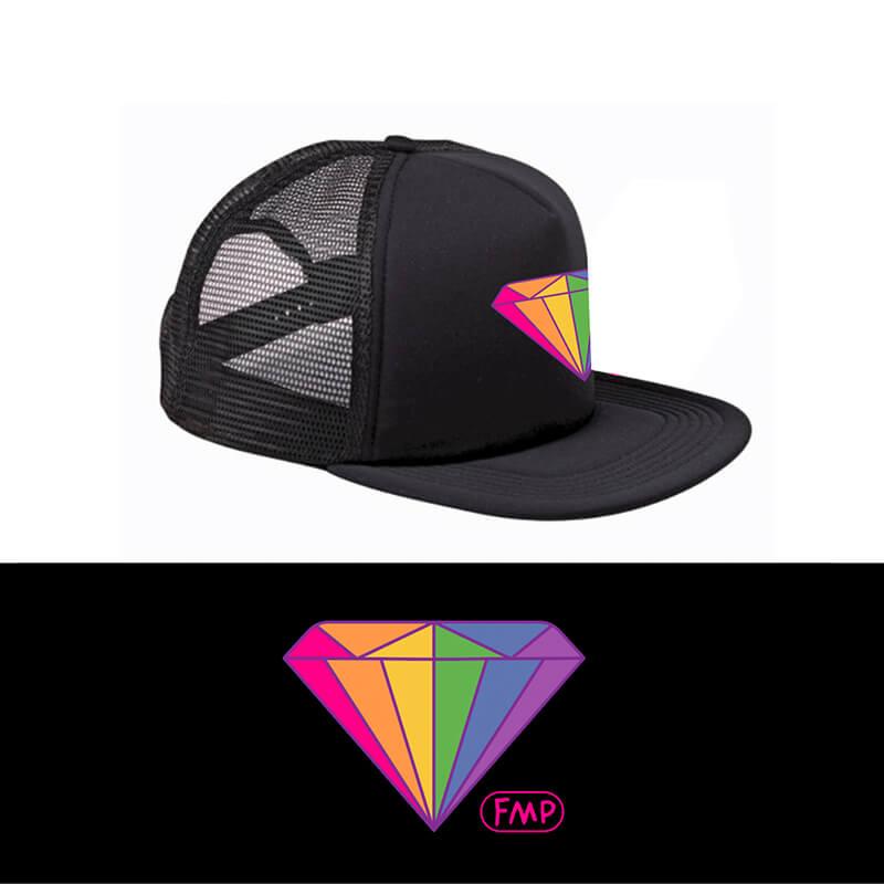 Foam Trucker Hat - Rainbow Diamond