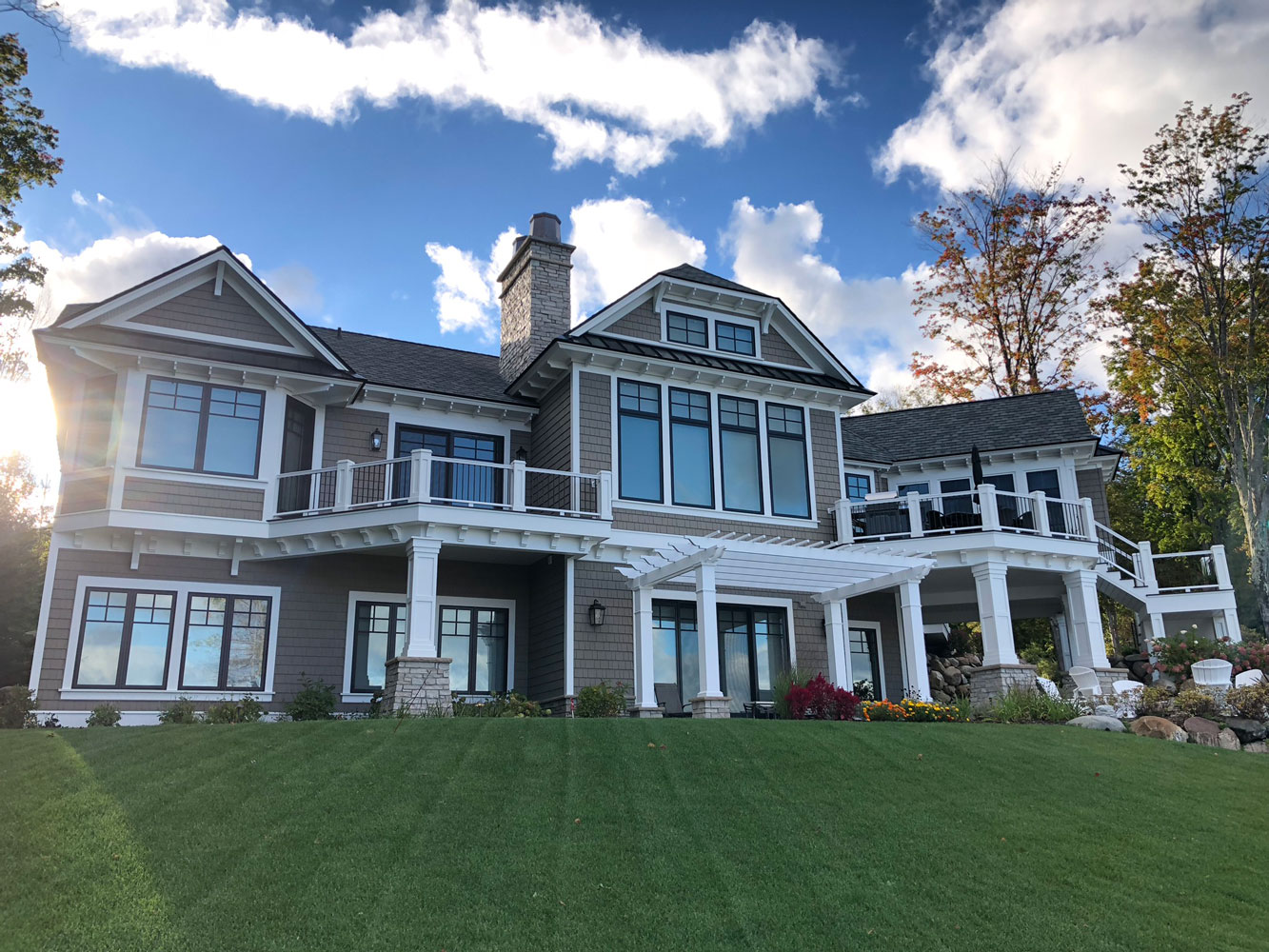 A house with clean windows in northern Michigan