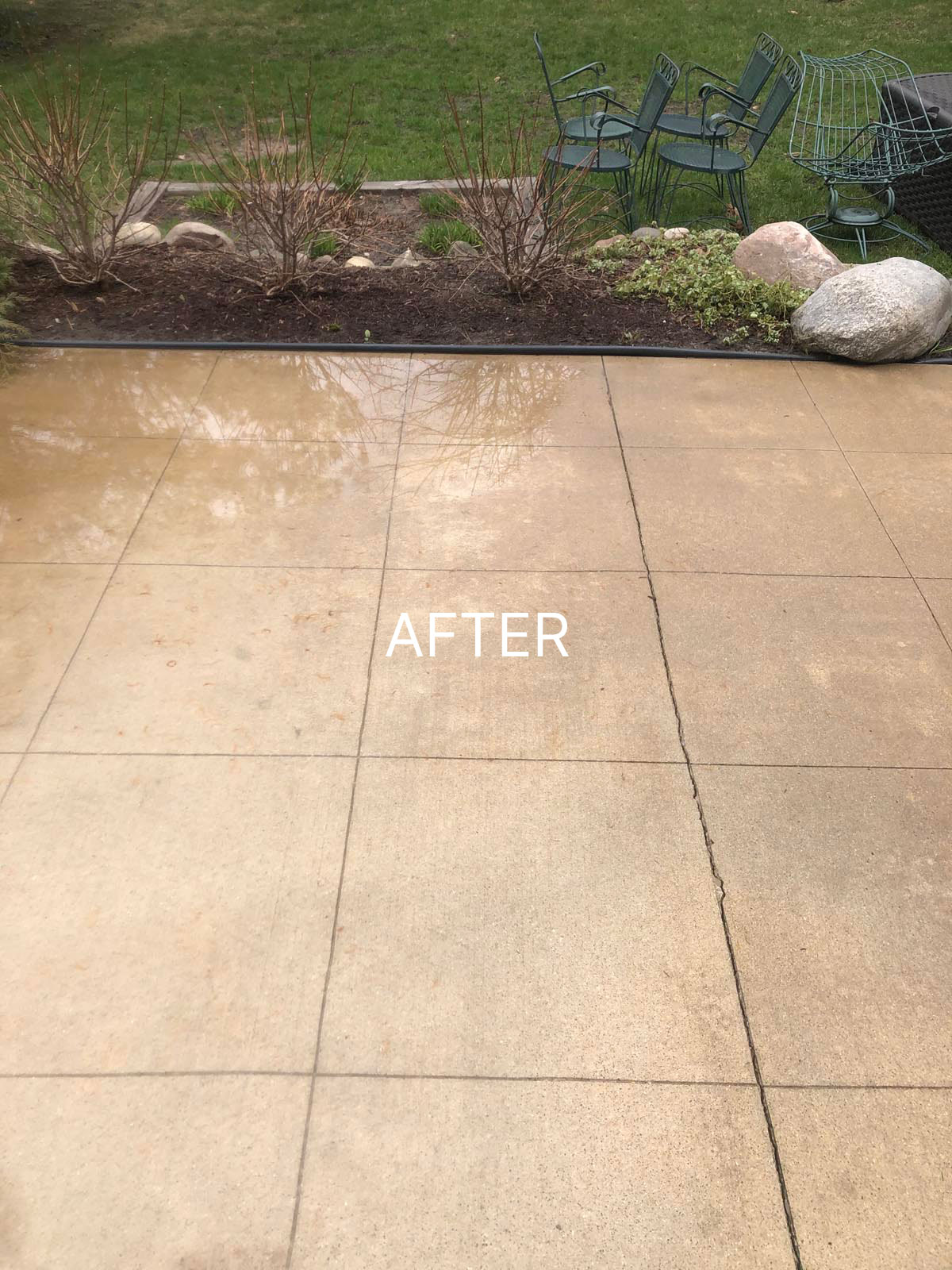patio that has been power washed