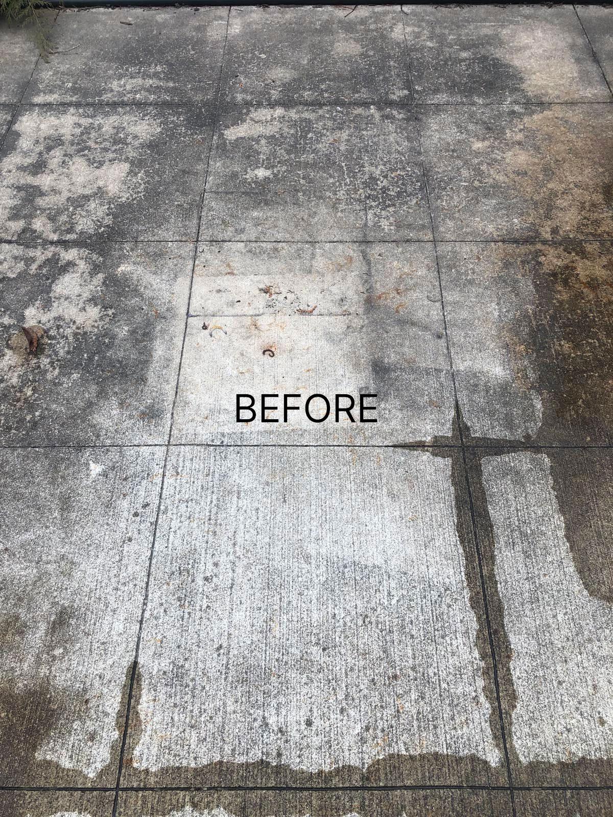 dirty patio