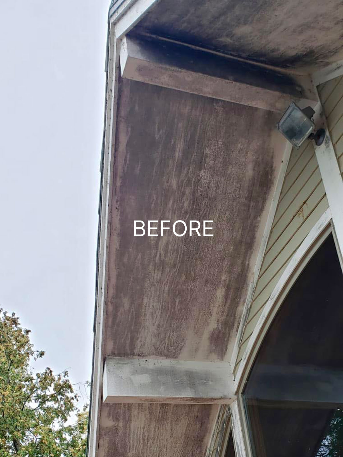 badly stained soffit