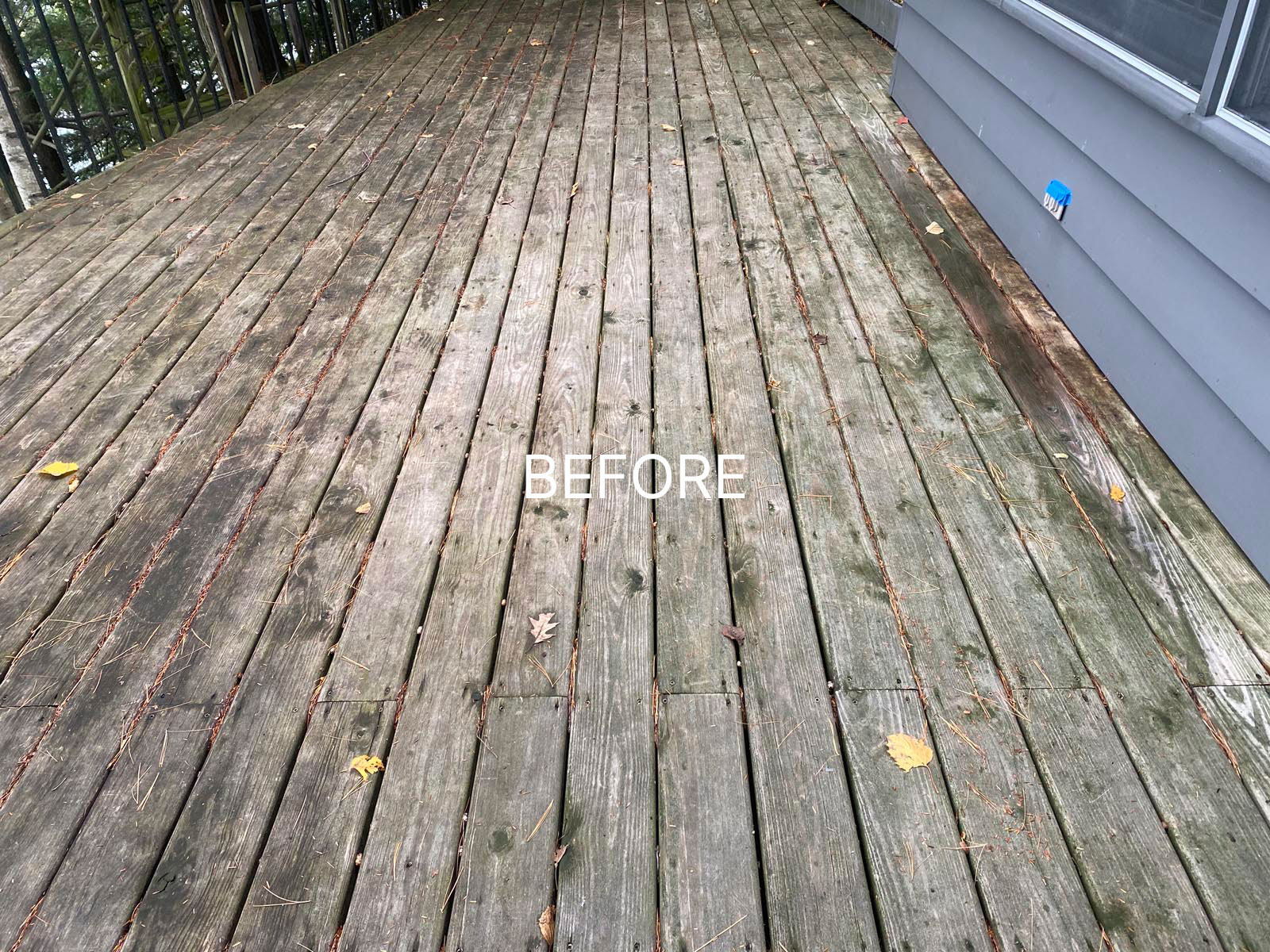 dirty and stained deck