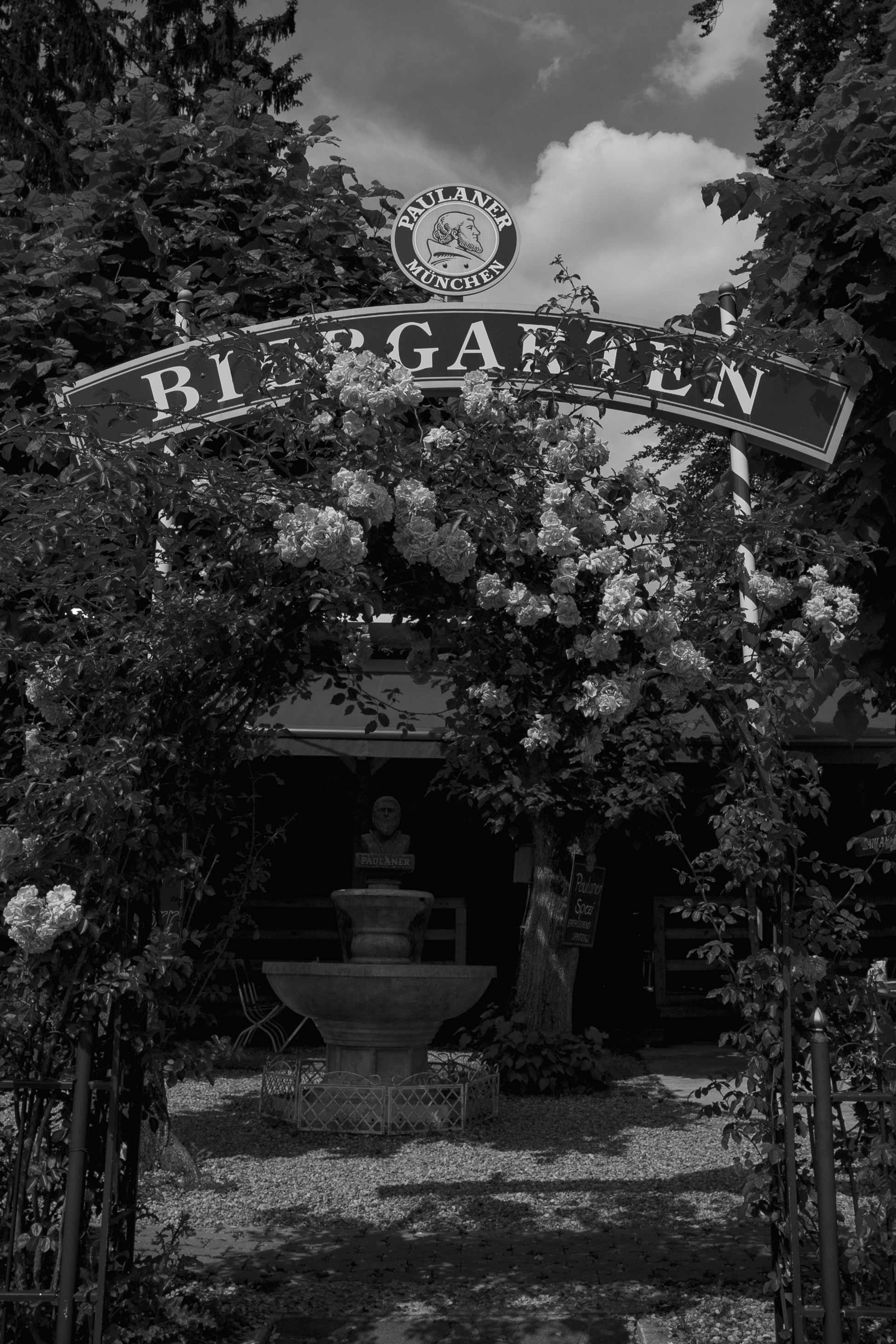 Biergarten Eingang