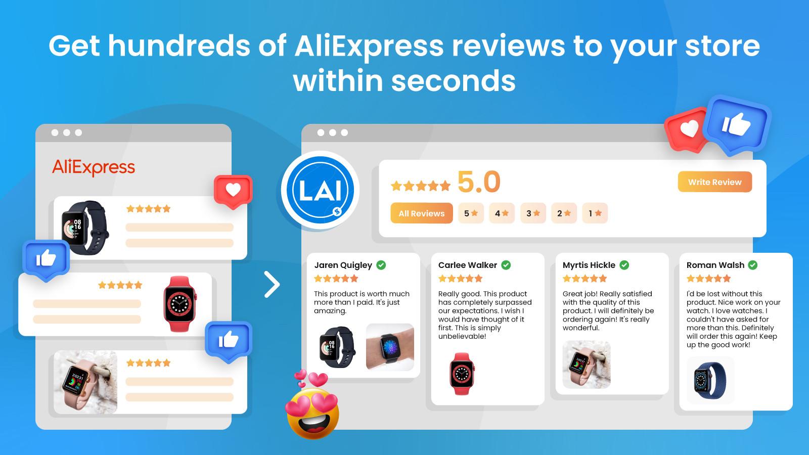 LAI AliExpress Reviews App