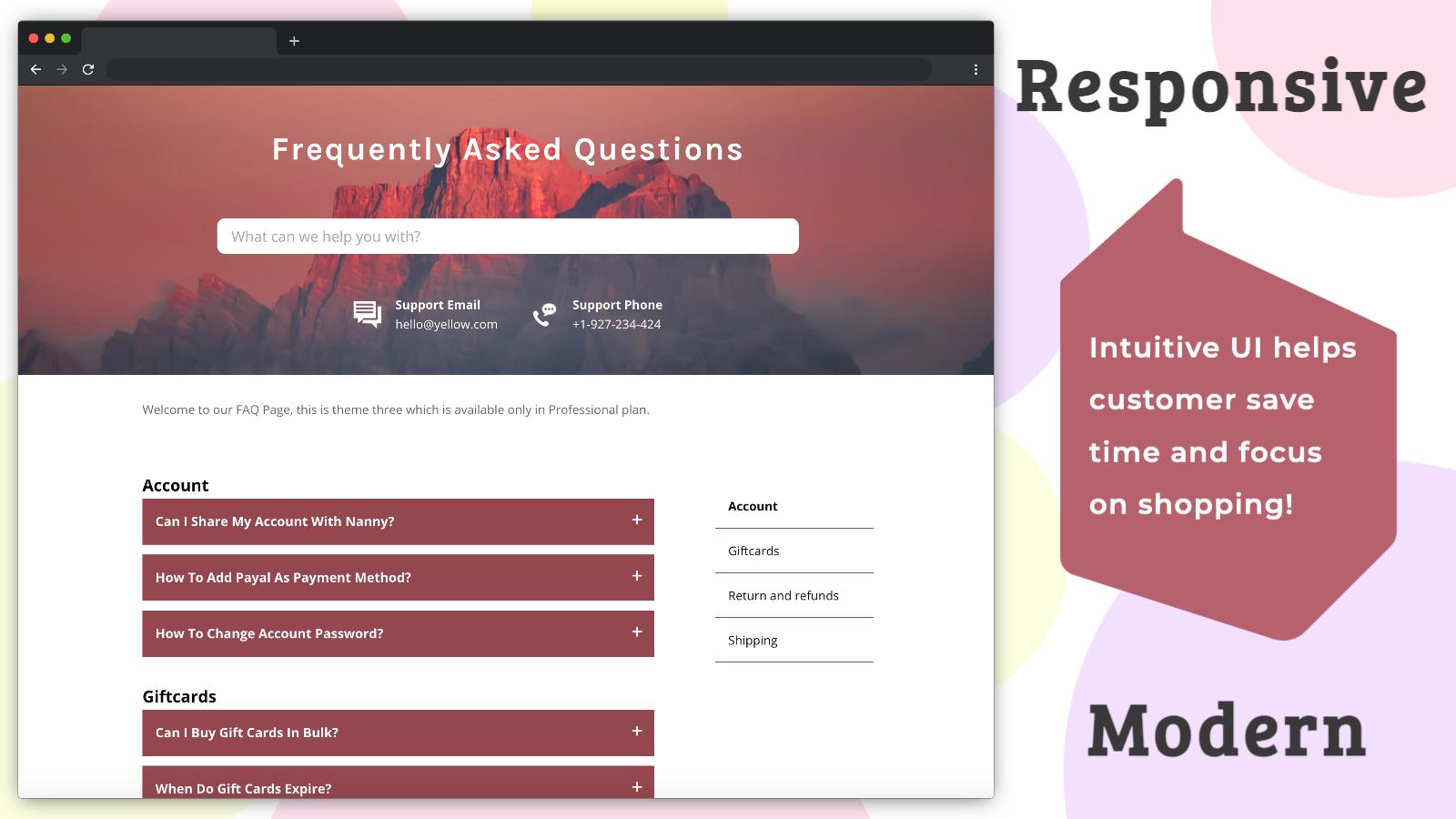 Easy FAQ | Help Center Support