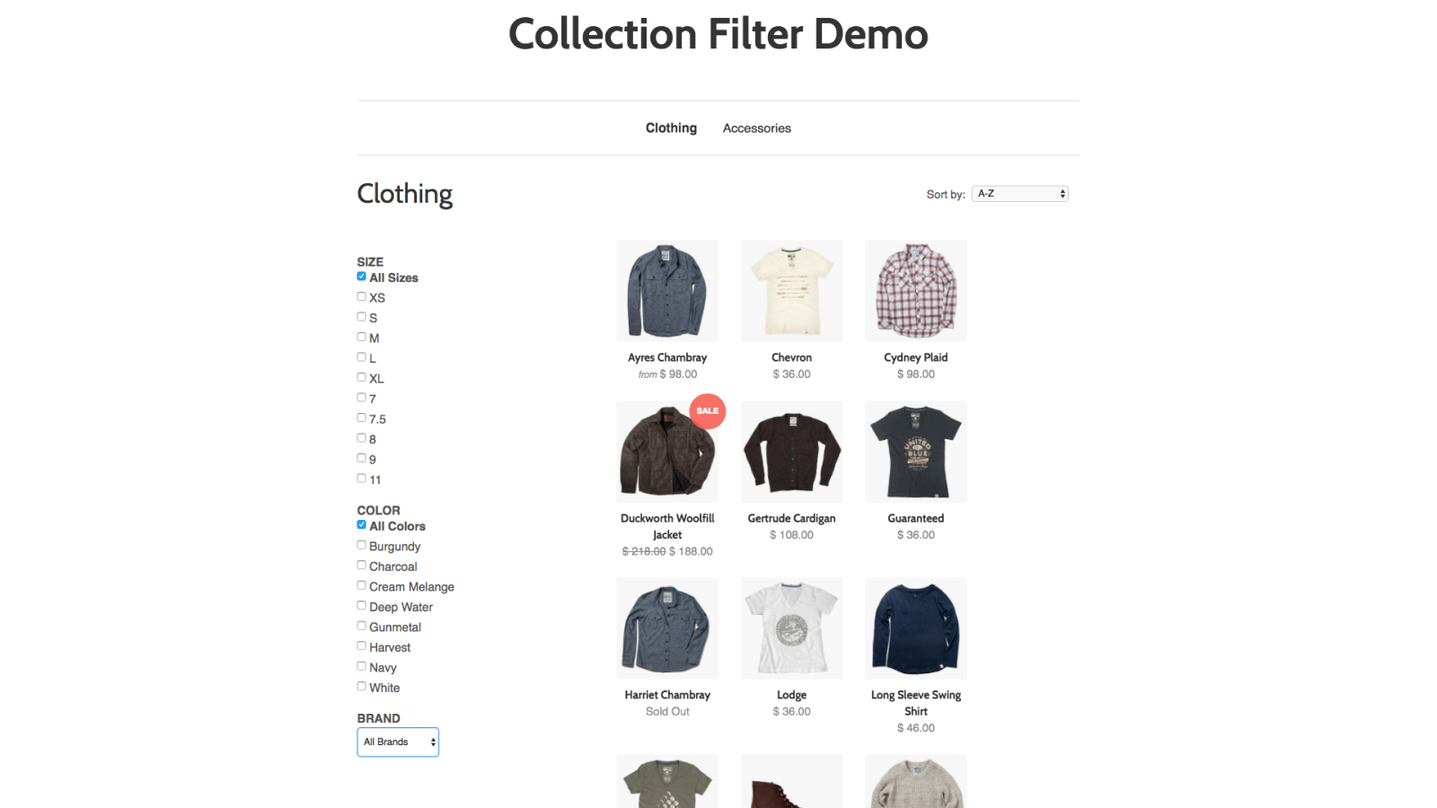 Collection Filter by Supple