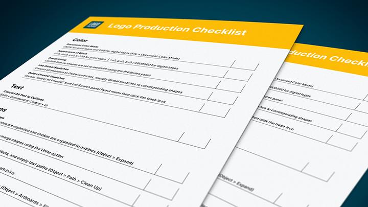 Free logo production checklist