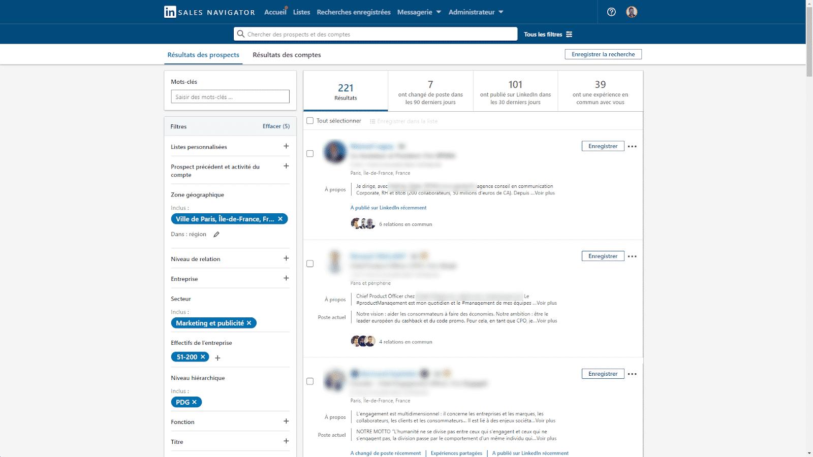 sales navigator cold mailing exemple
