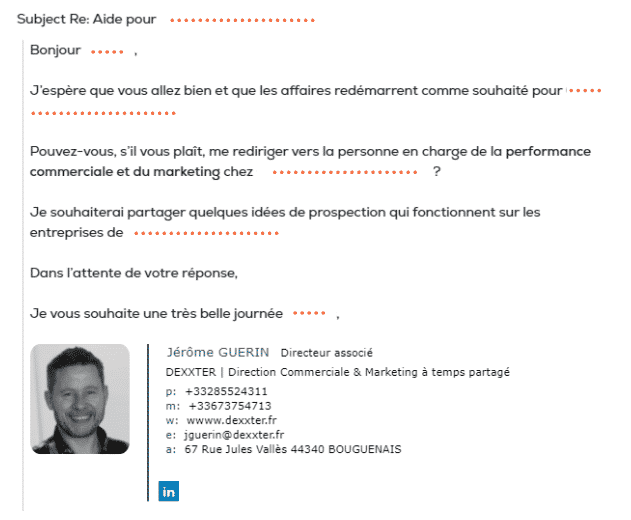 cold emailing exemple personnalisation
