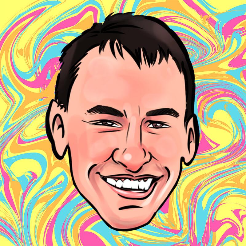 Caricature of Evan Semantic
