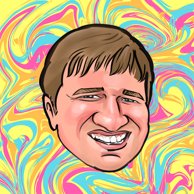 Caricature of Derek Deveroux
