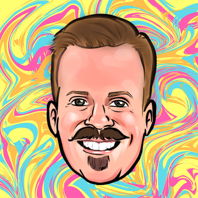 Caricature of Cory Runnells