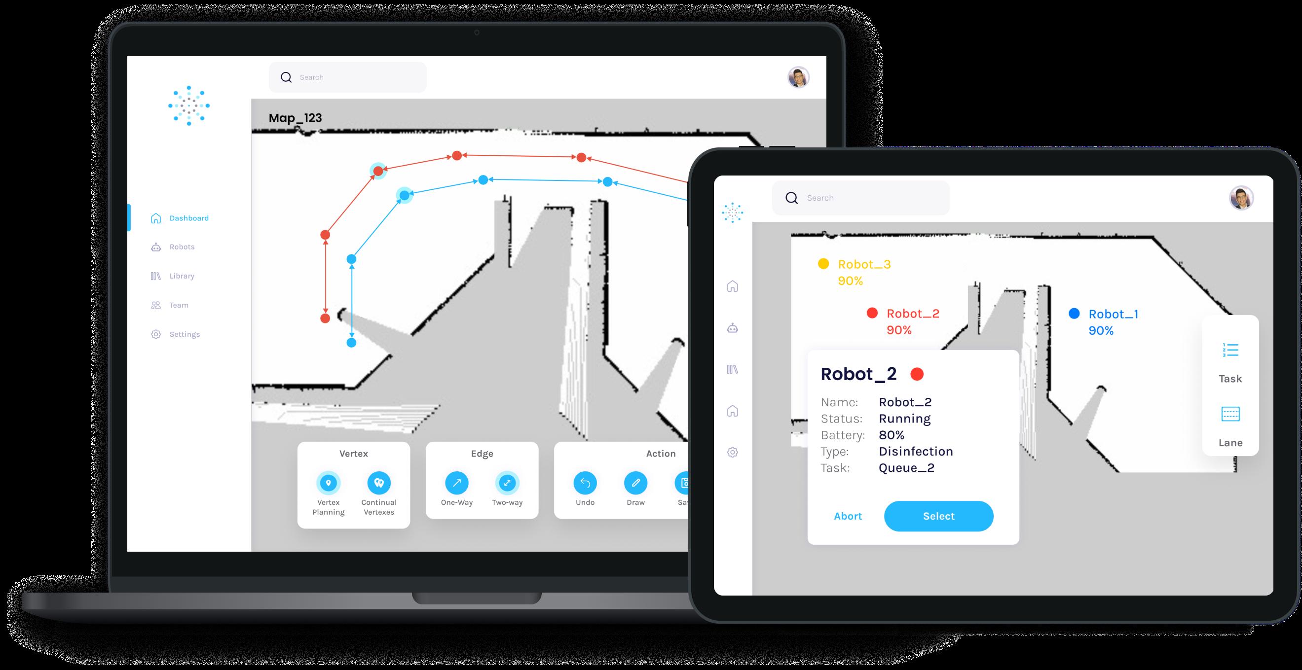 Seirios: Manage multiple robots using fleet management system