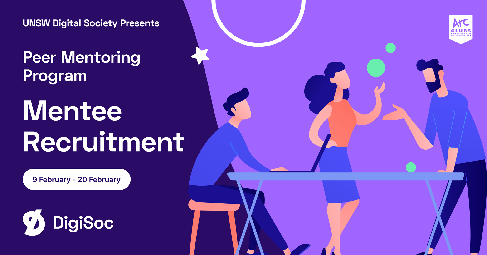 DigiSoc Presents: Peer Mentee Recruitment