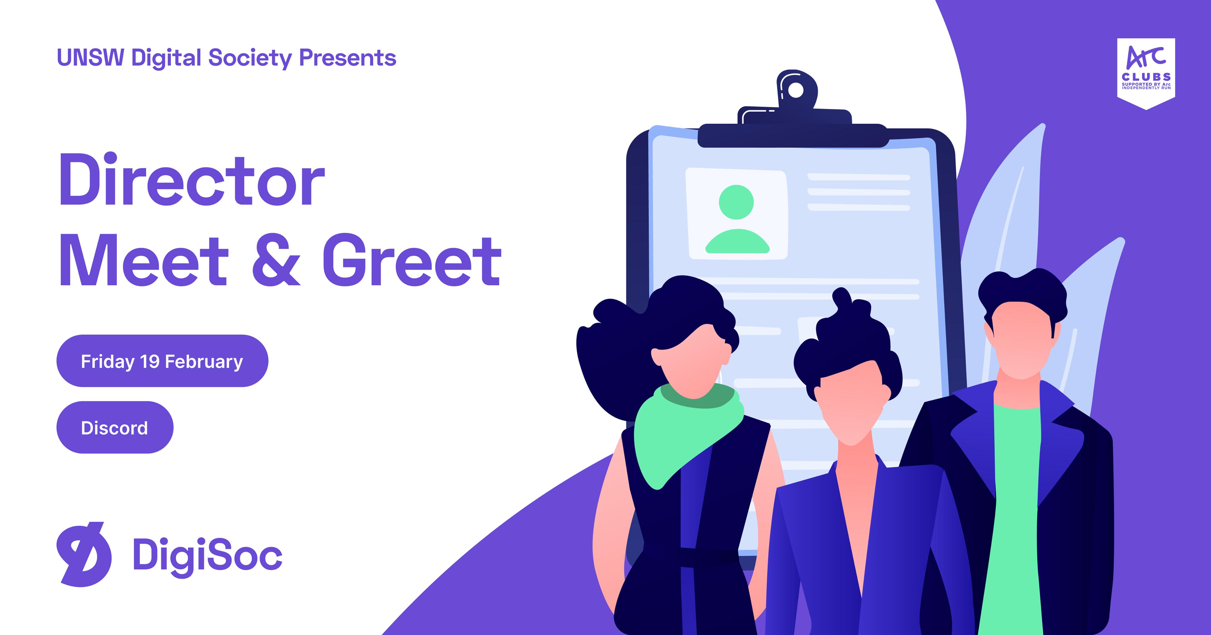 DigiSoc Presents: Director Meet & Greet
