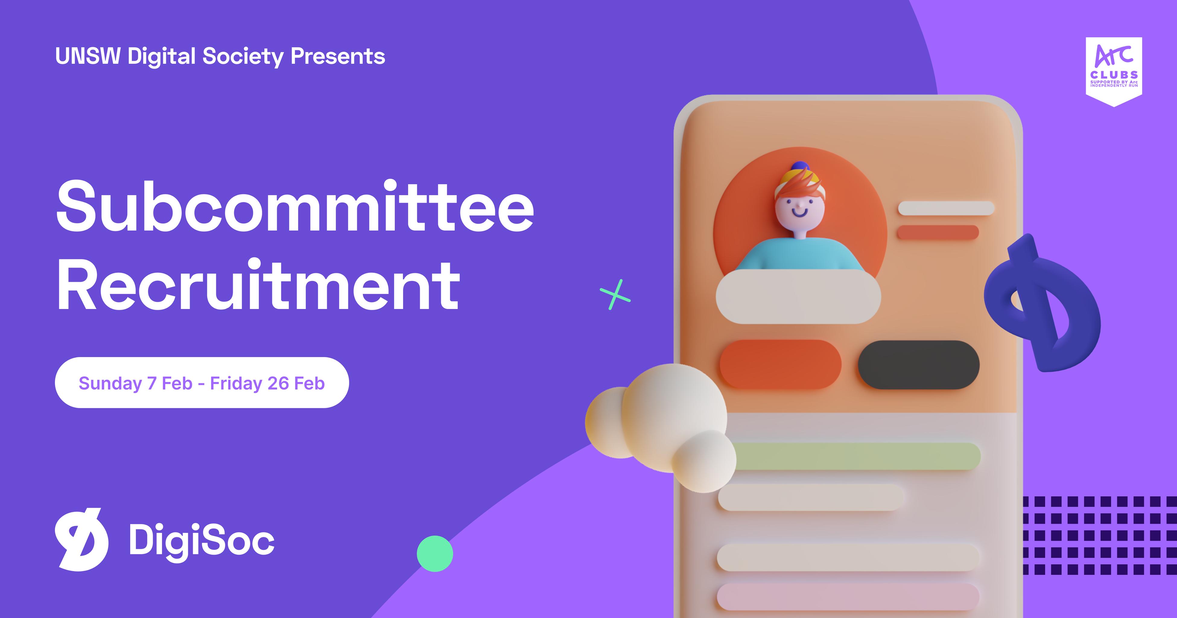 DigiSoc Presents: Subcommittee Recruitment