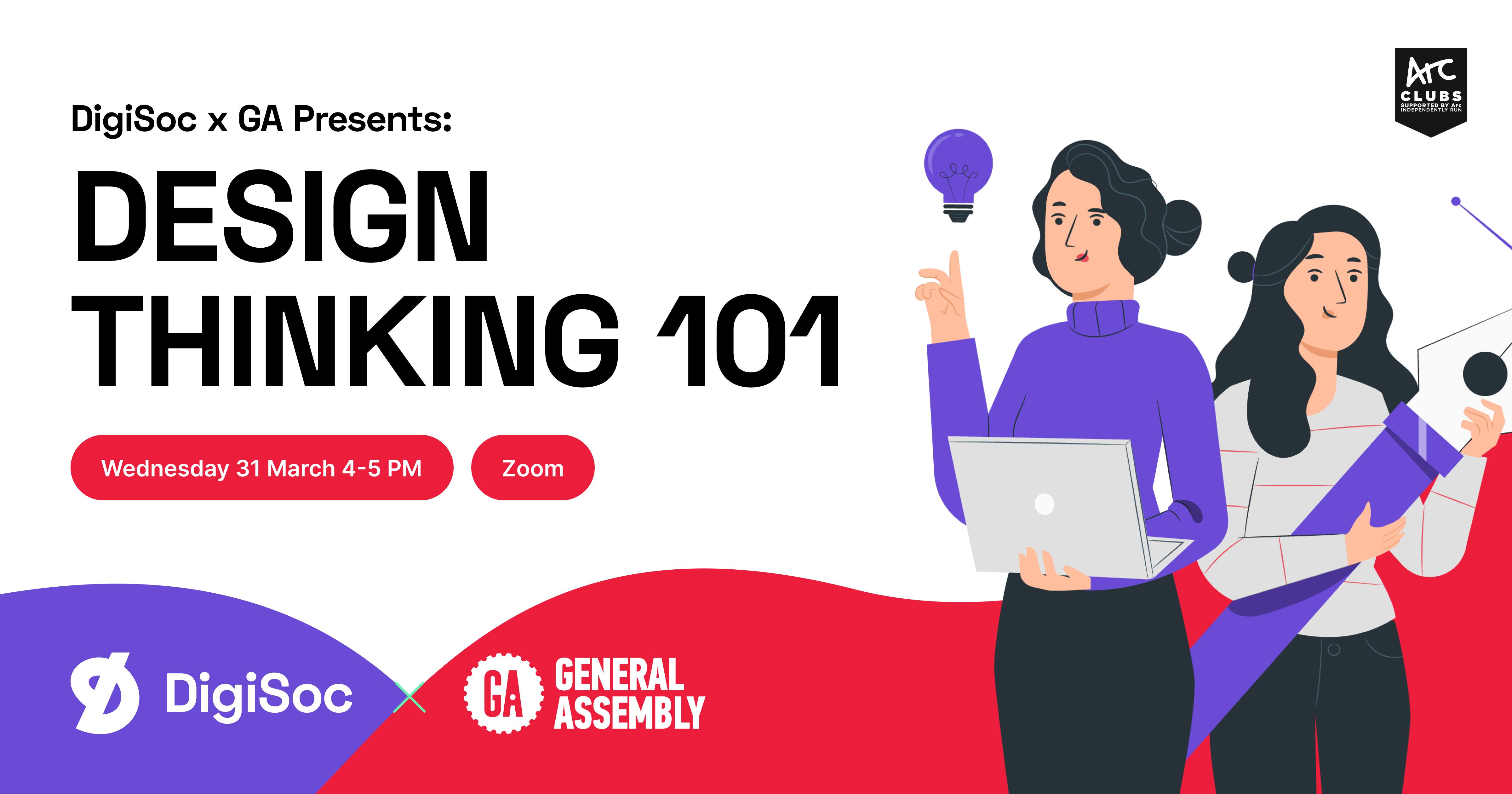 DigiSoc x GA Presents: Design Thinking 101