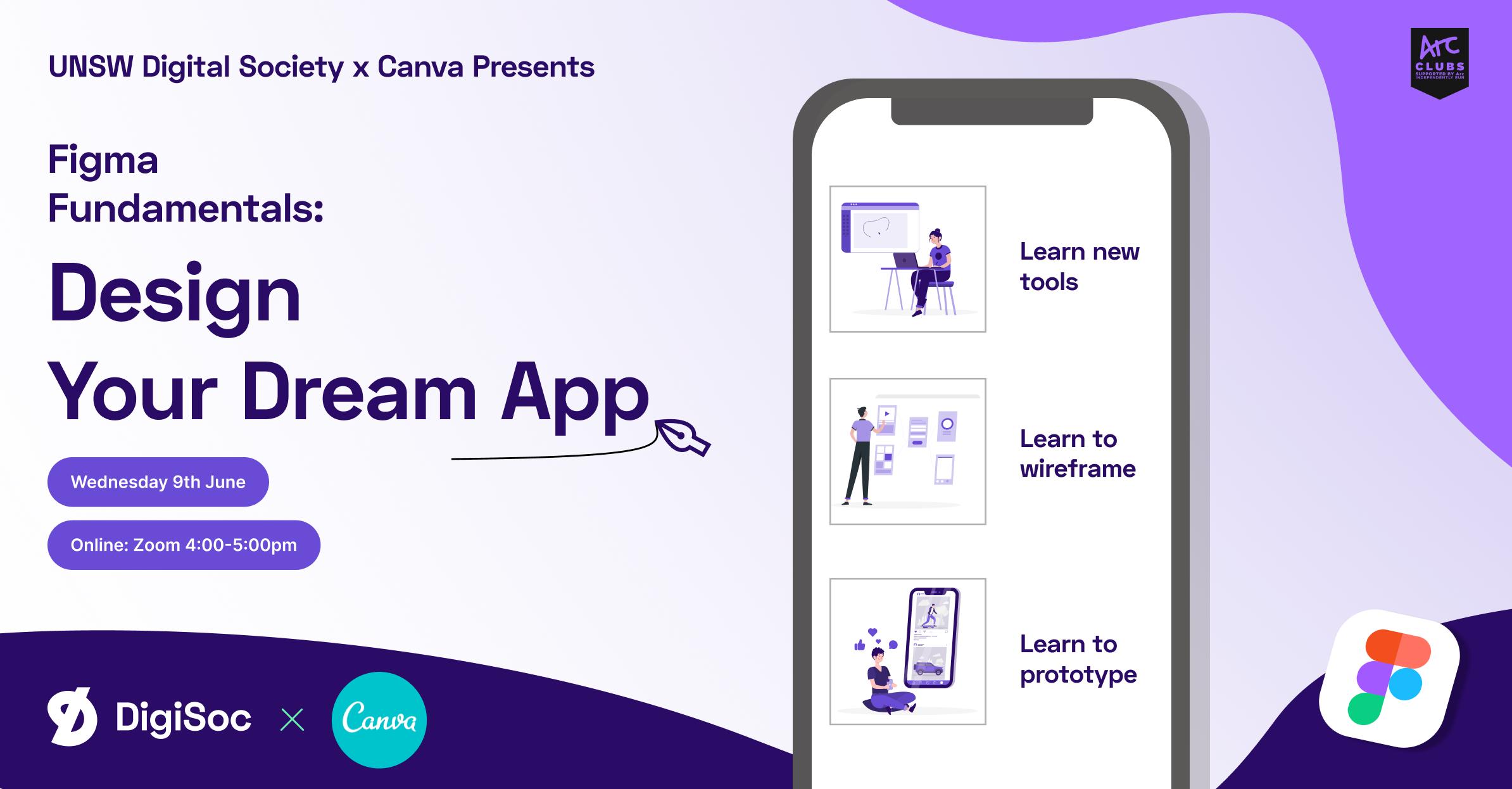 DigiSoc x Canva Presents: Design Your Dream App