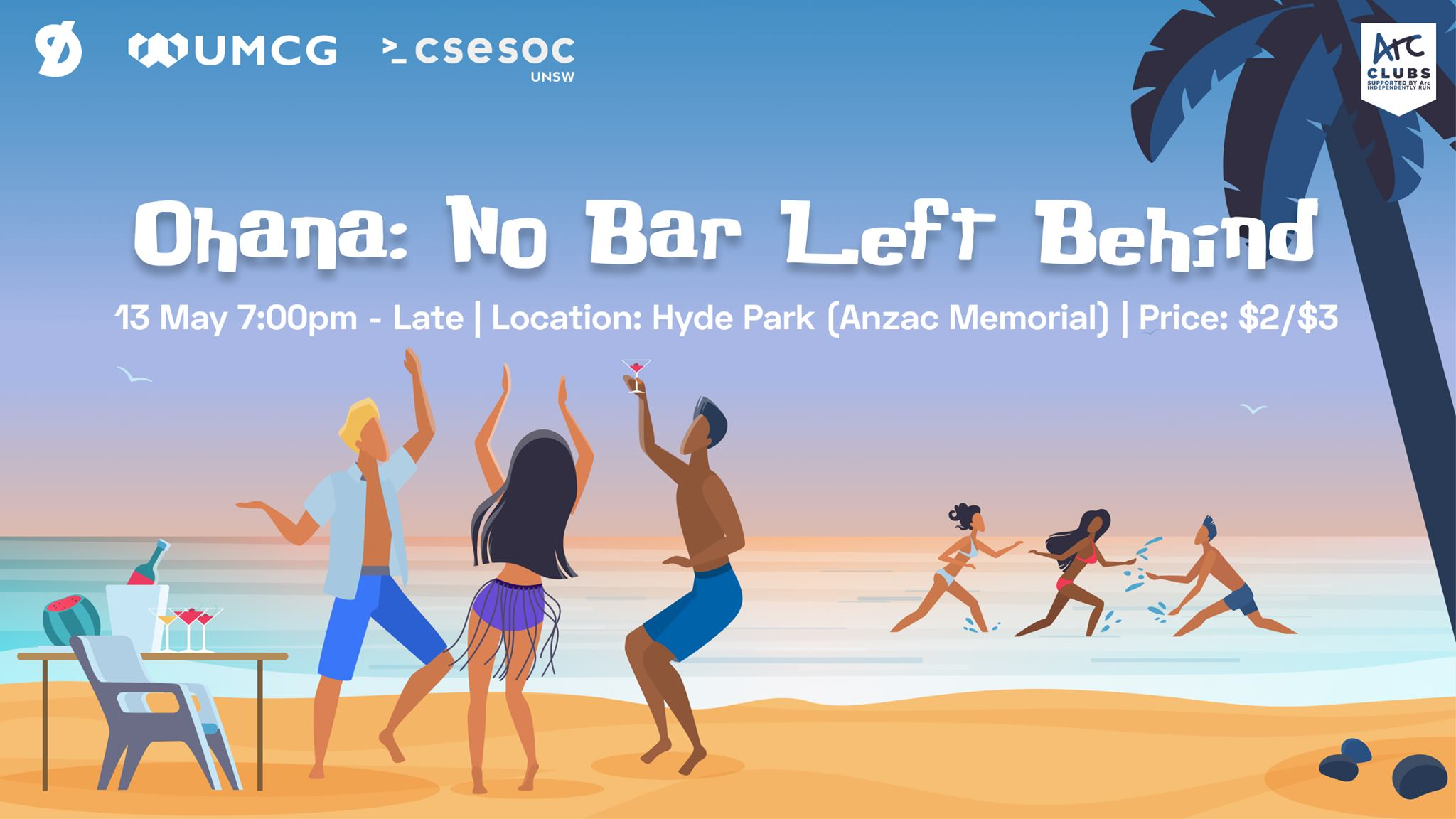 DigiSoc x UMCG x CSESoc PubCrawl | Ohana: No Bar Left Behind