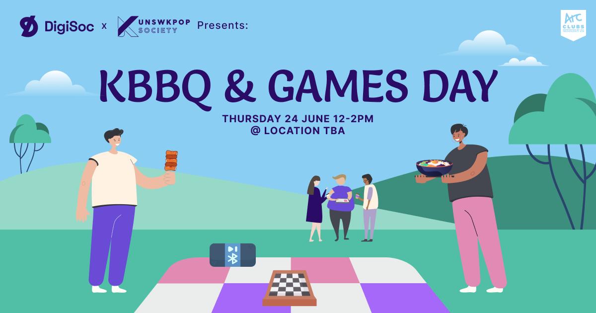 DigiSoc x KpopSoc Presents: KBBQ & Games Day