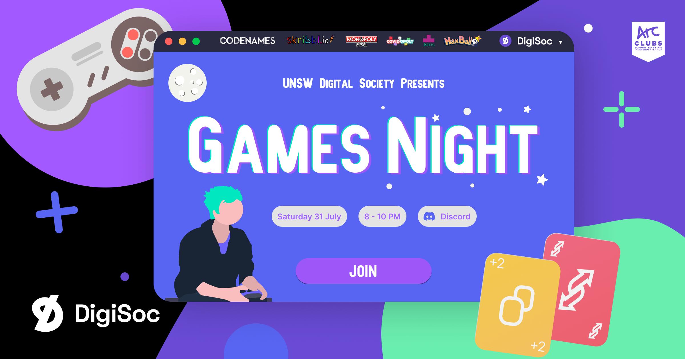 DigiSoc Presents: Games Night