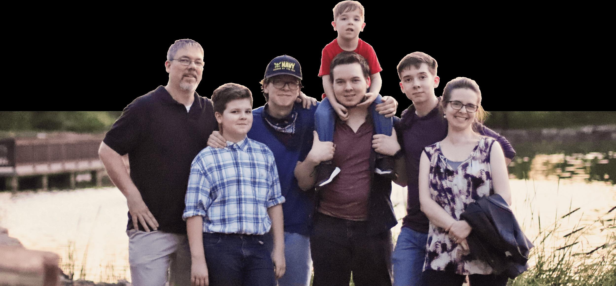 Prescott Family standing together