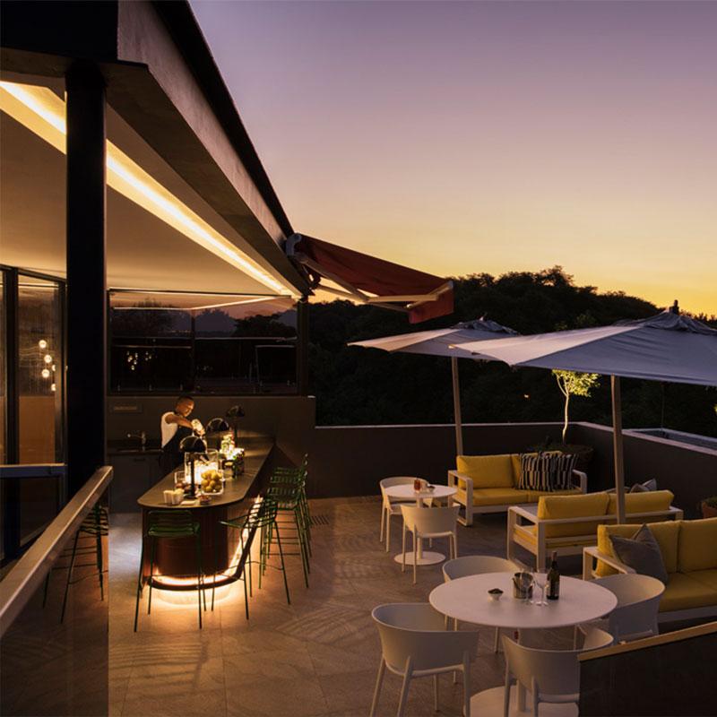 Home Suite Hotels Rooftop Bar Bar Views Luxury Drinks