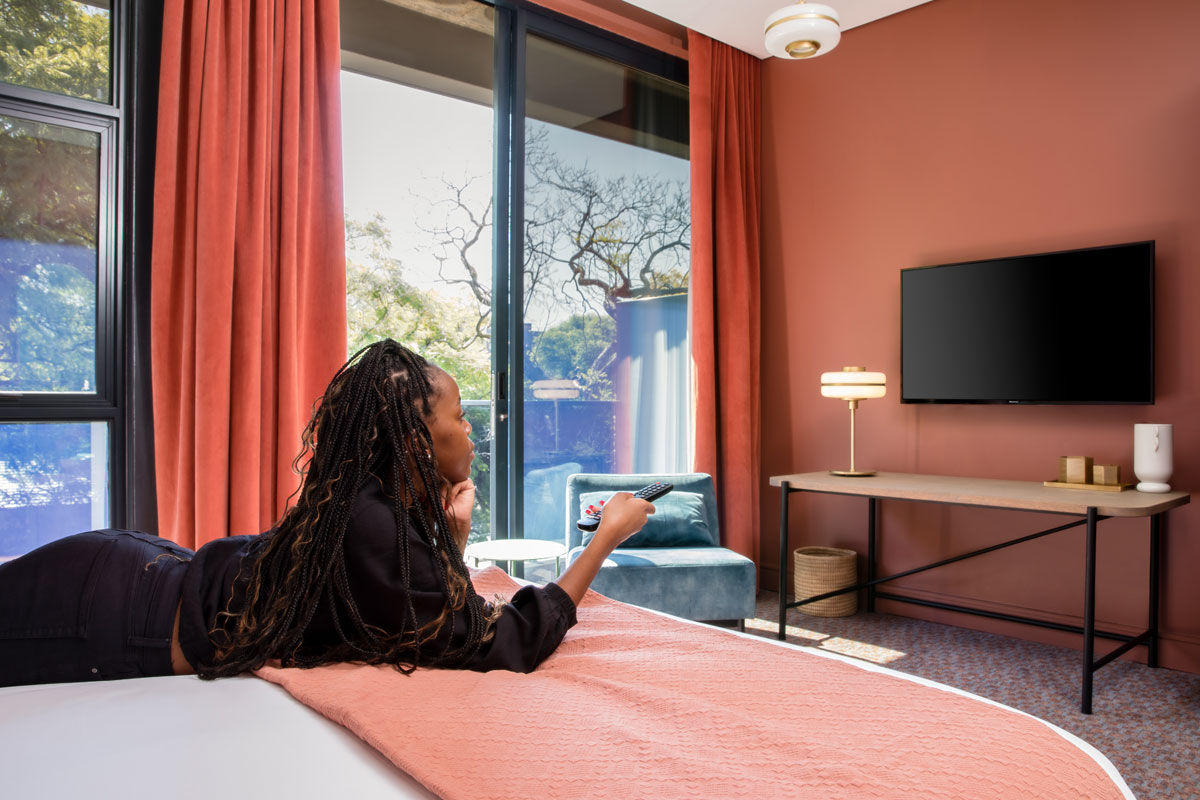 Home Suite Hotel Netflix Netflix and chill High speed fibre more room for living hotel luxury comfort