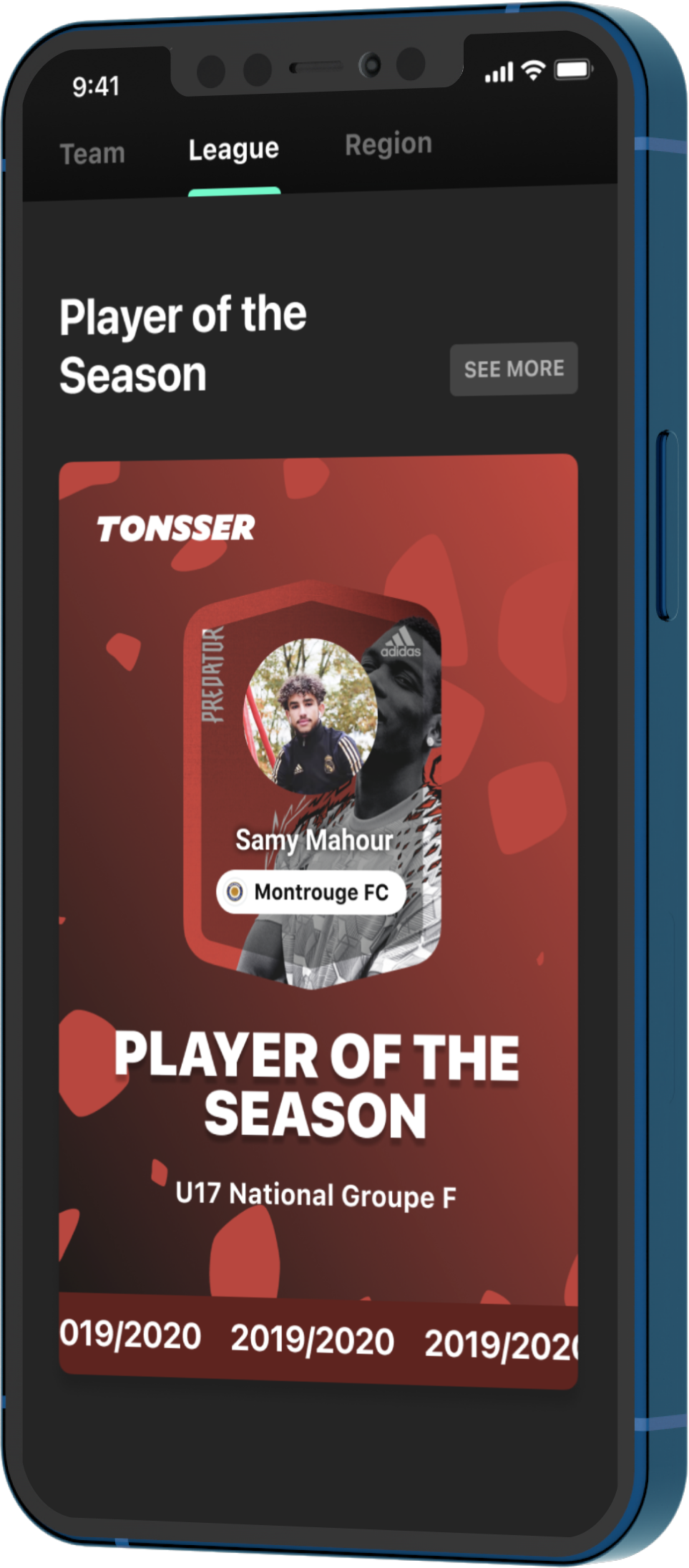 Phone photo of app