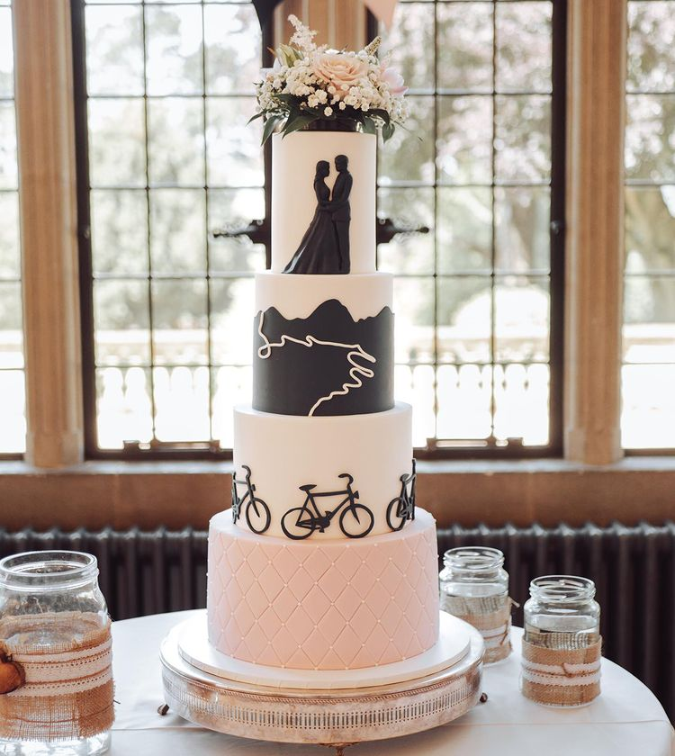 A cake like a journey through life until the wedding day