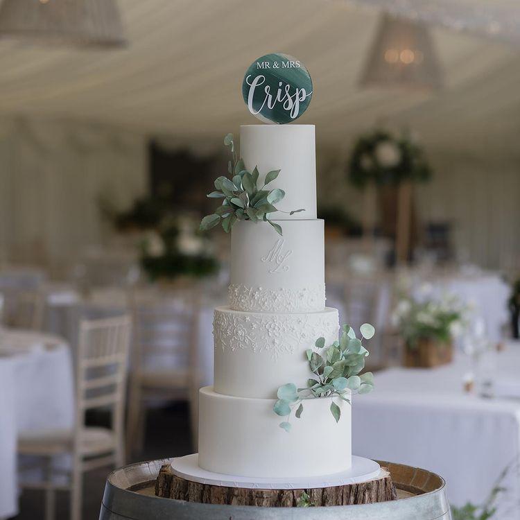 Luxury Wedding Cake at Llanerch Vineyard