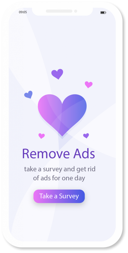 Alternative to ads for app monetization: rewarded surveys can replace mobile ads for a specific time in order to get more app revenue