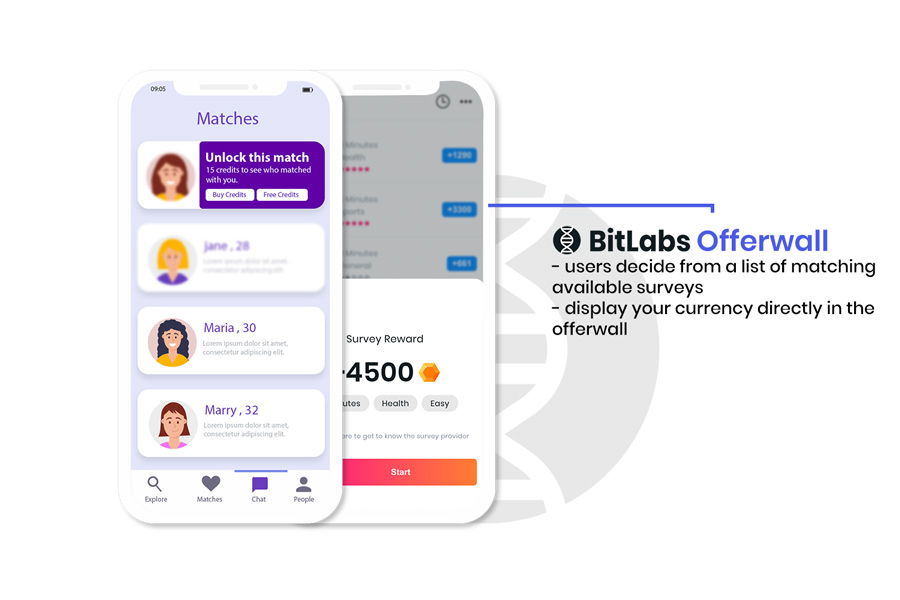 Dating App Offerwall. BitLabs Rewarded Surveys in Offerwall Mode allows you to monetize dating apps