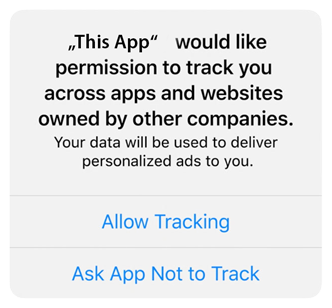 Offer Wall App asking for tracking permission