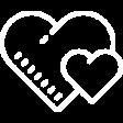 Hearts for happy customer icon
