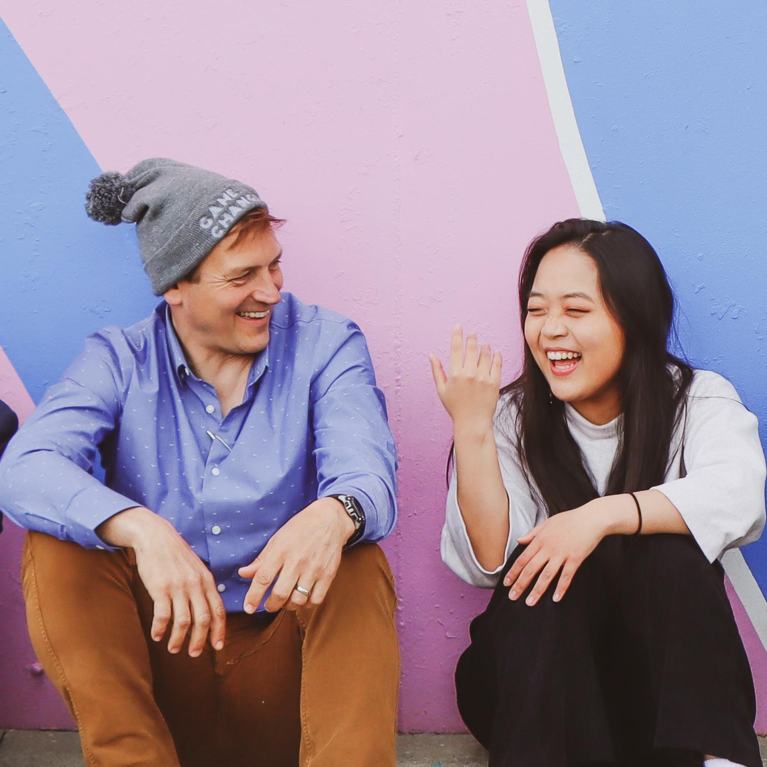 Roy & Han Ju laughing