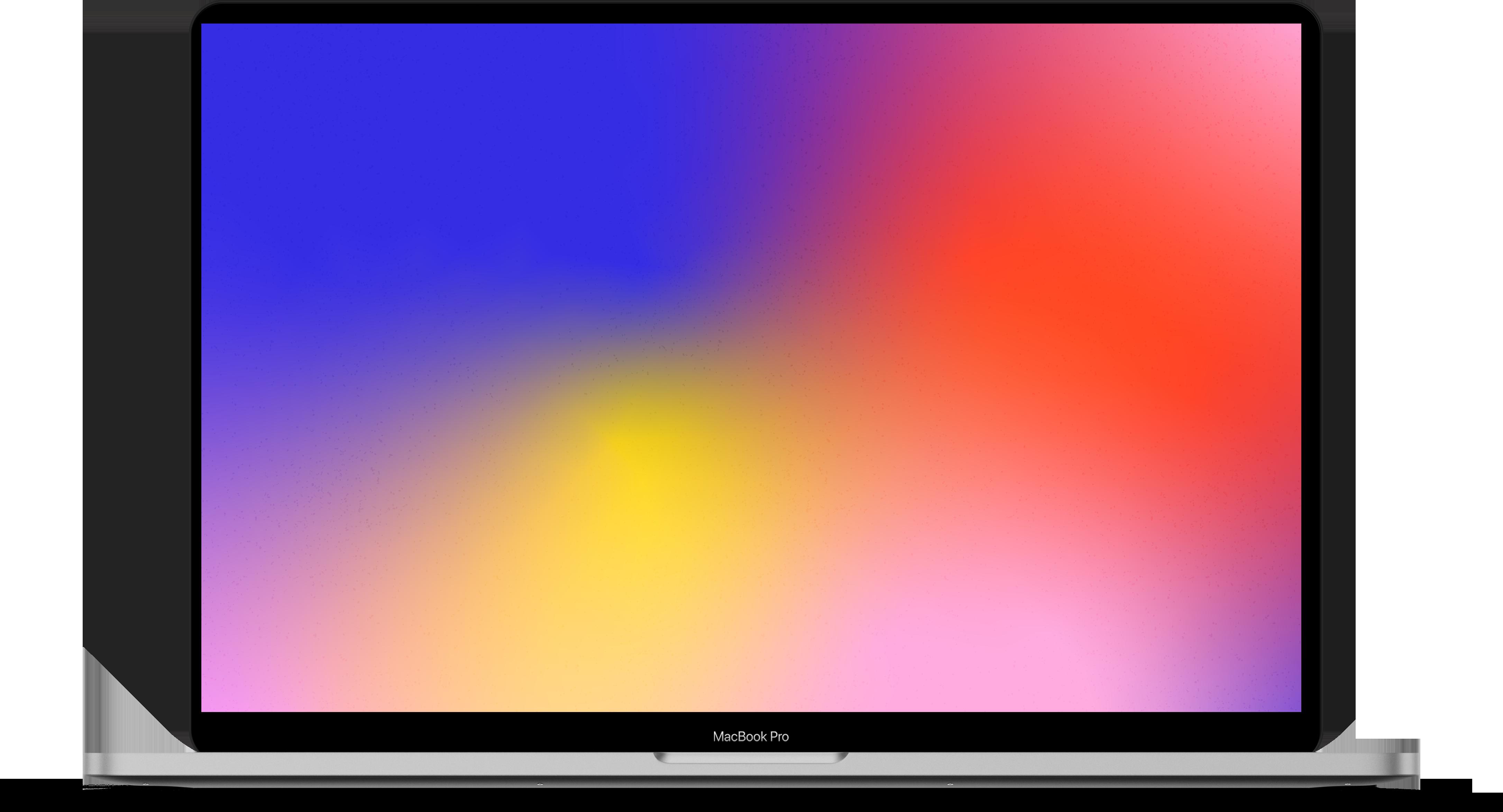 MacBook Pro with gradient screen.