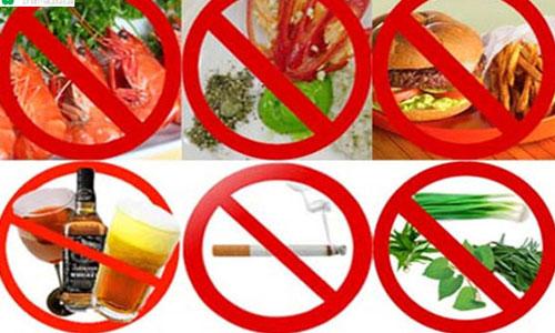 Thực phẩm nên tránh sau khi nạo phá thai