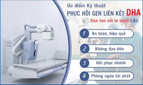 Chữa bệnh lậu bằng phương pháp DHA.