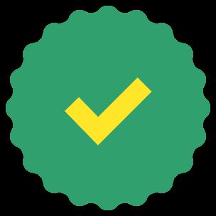 A fancy checkmark