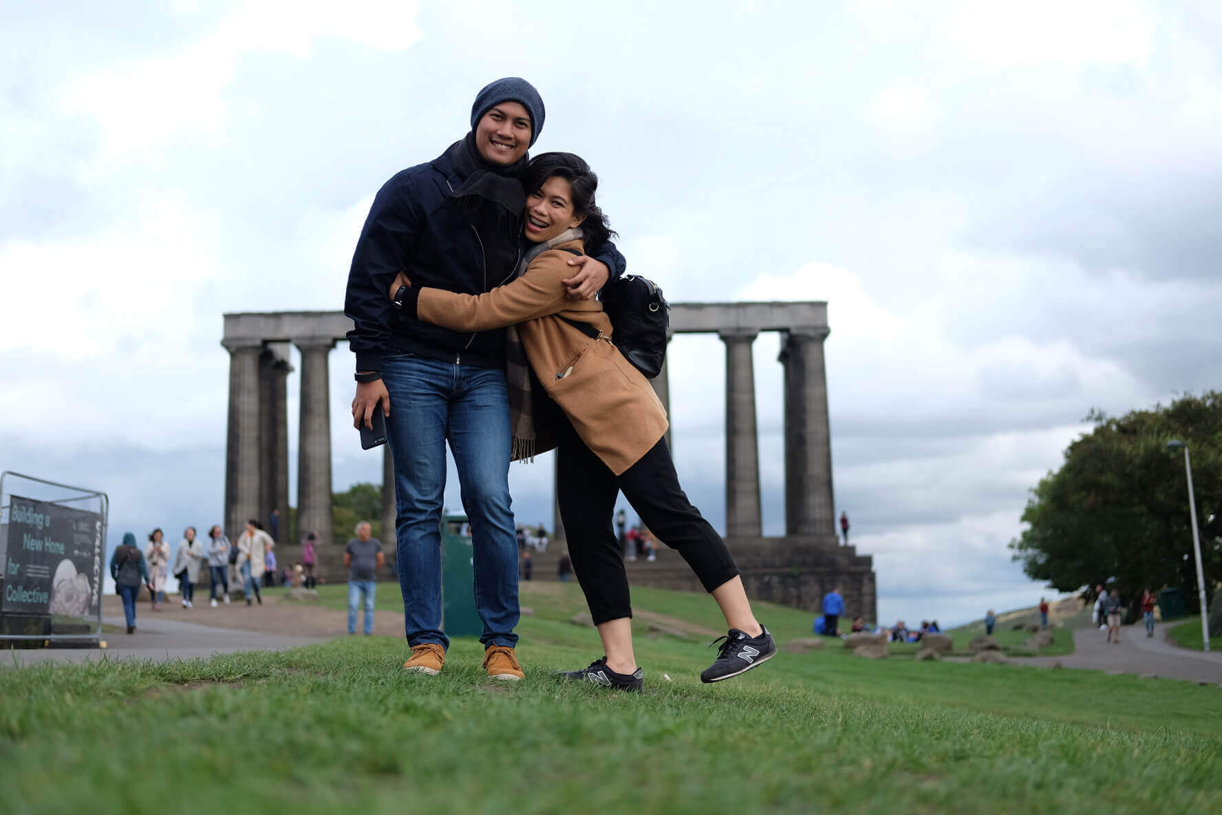 Eli and Cha in Arthur's Peak, Edinburgh