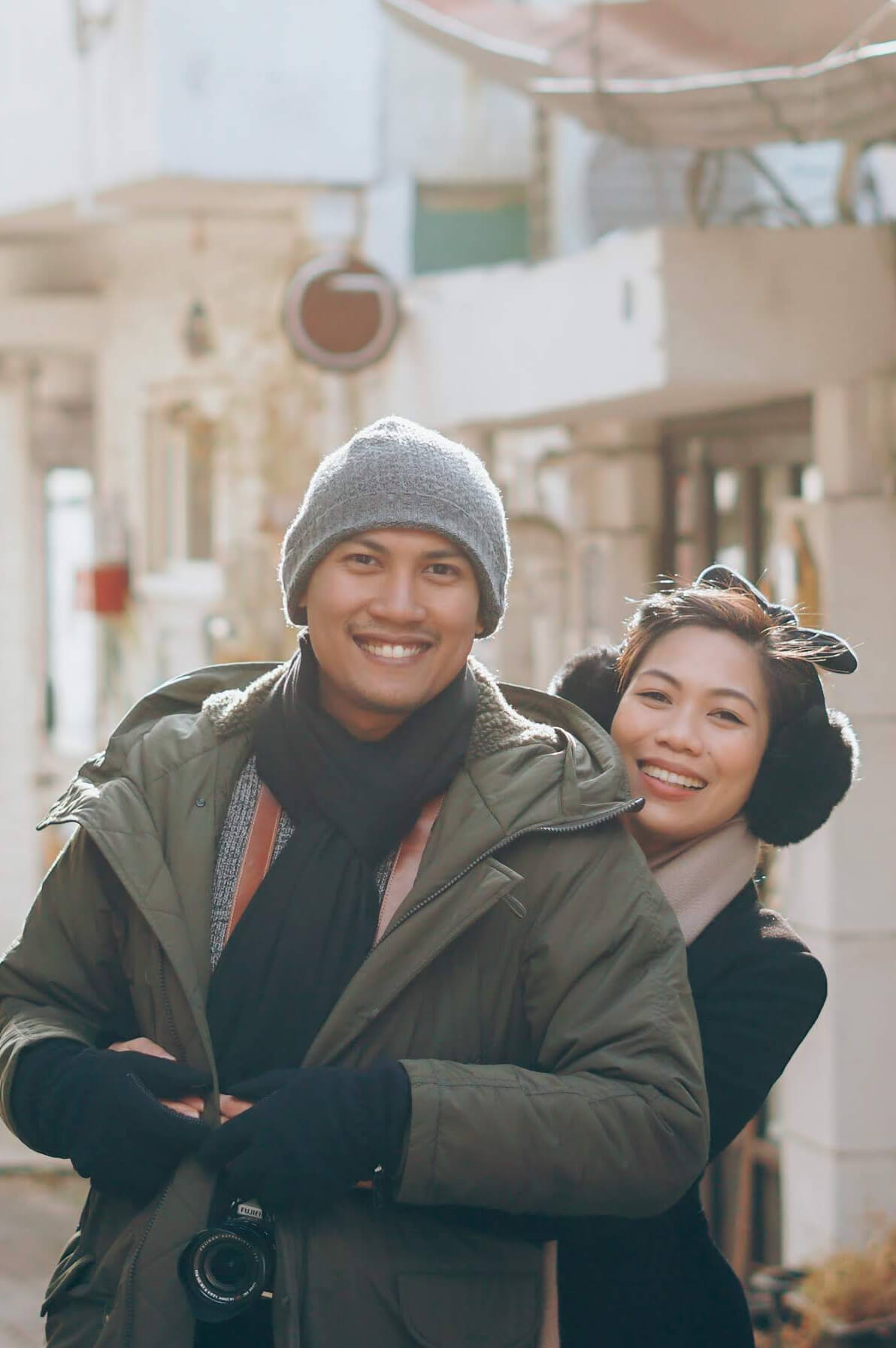 Photo of Eli and Cha in South Korea