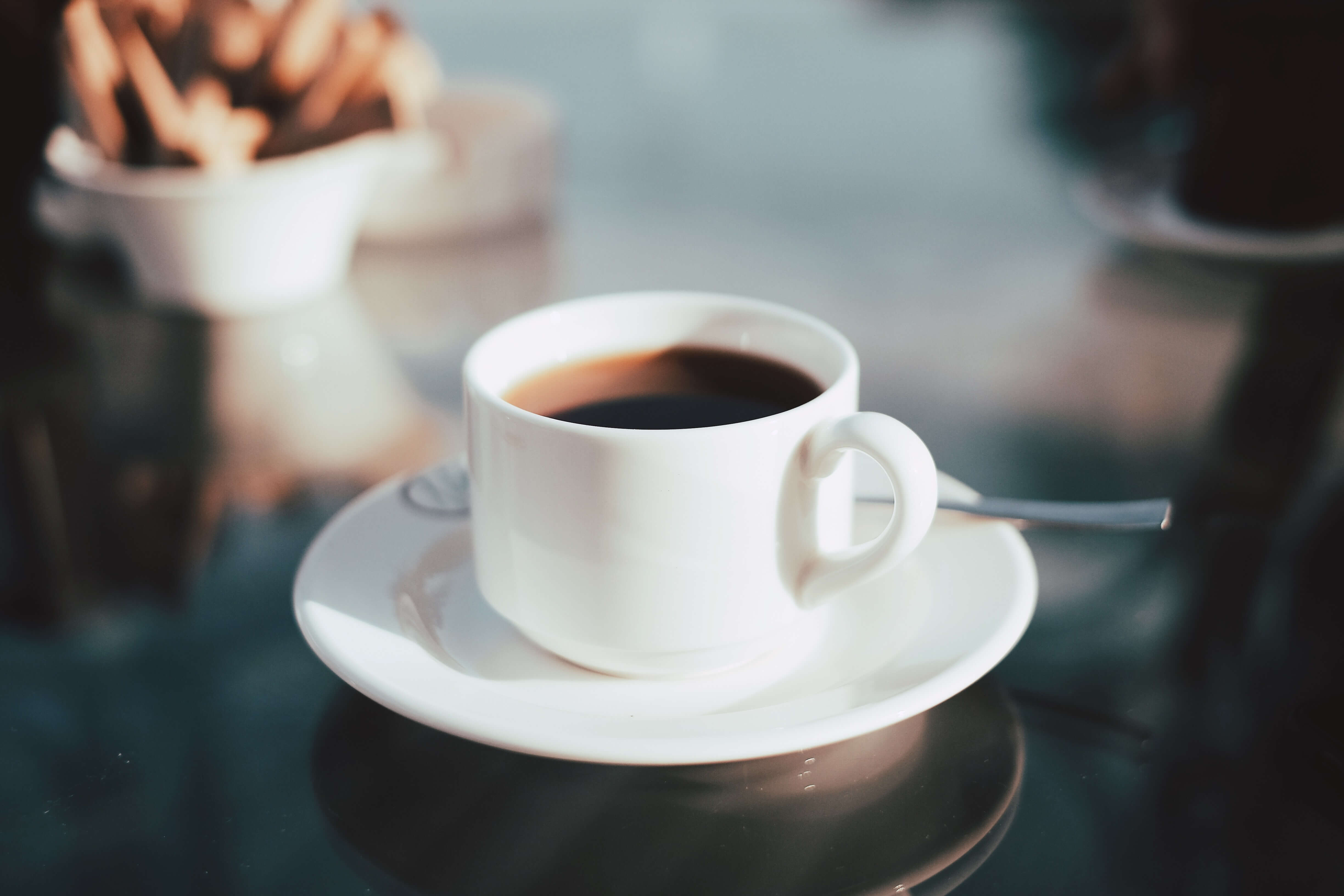 A hot cup of coffee